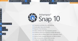 With Snap 10, users create screenshots and screencasts and can edit the recordings directly in the software.
